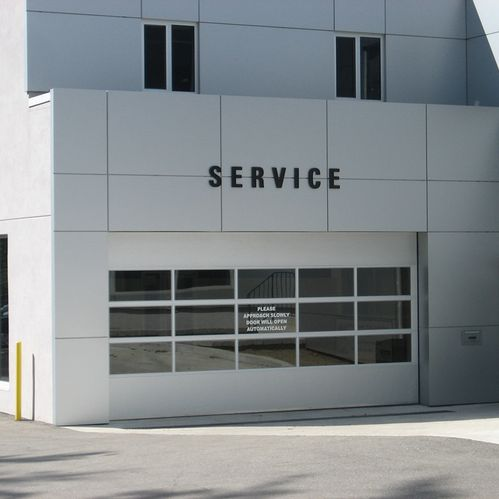 Lexus dealer garage door