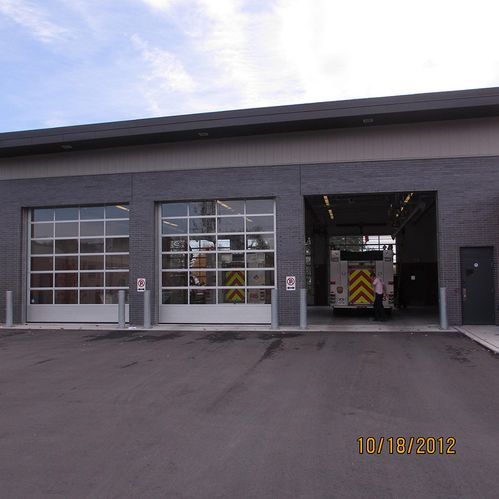 Fire Hall garage doors